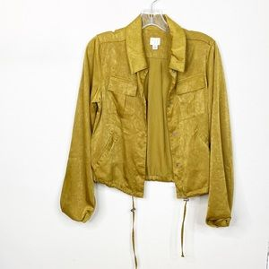 A New Day Green Zip Jacket Small